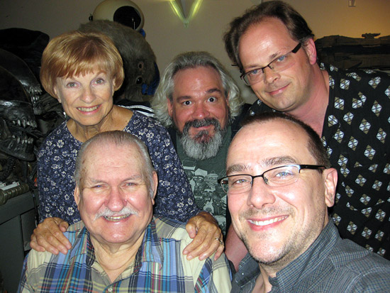 Bob & Kathy Burns with Todd Doogan, Adam Jahnke & Bill Hunt of The Bits