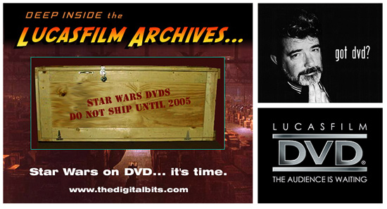 Original Star Wars on DVD Campaign graphics