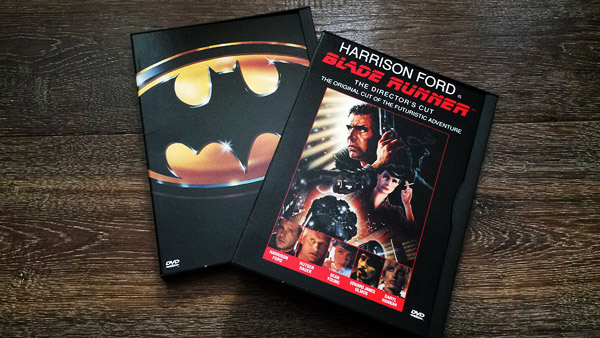 Two of the very first DVDs: Warner's Batman and Blade Runner: The Director's Cut