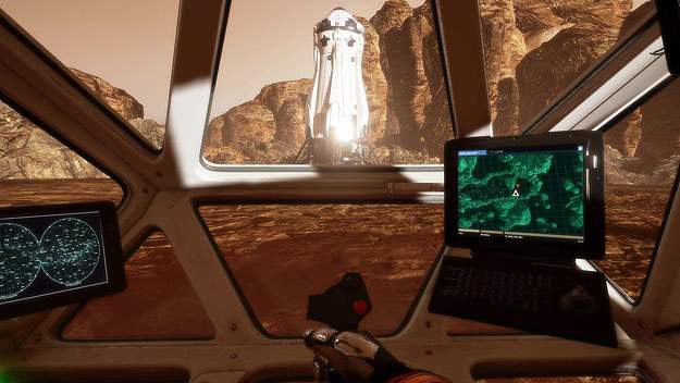 A image from Fox's The Martian VR Experience