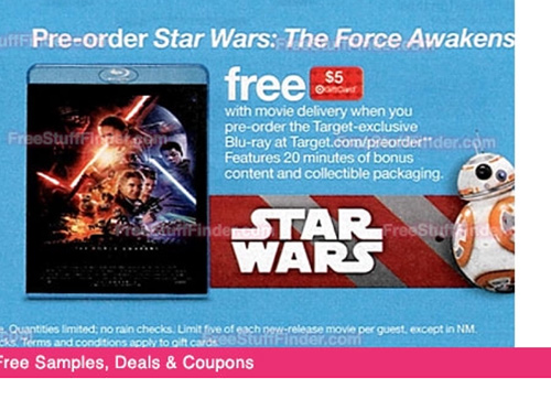 Target ad for Star Wars: Force Awakens Blu-ray