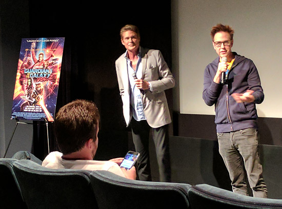David Hasselhoff and director James Gunn