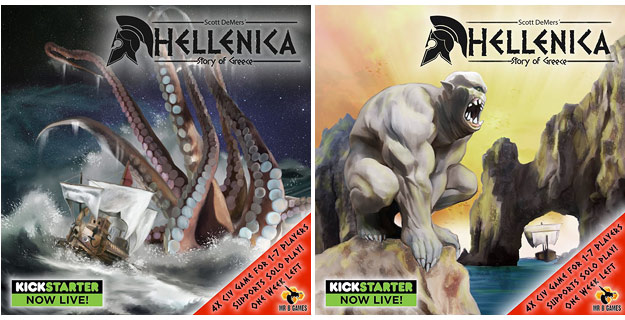 Hellenica: The Story of Greece (Board Game Kickstarter)