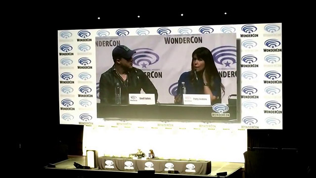 Wonder Woman producer Geoff Johns and director Patty Jenkins at WonderCon 2017