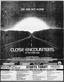 Close Encounters newspaper ad