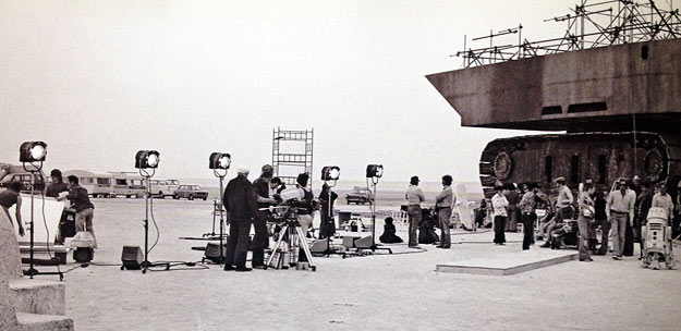 The first day of filming on Star Wars