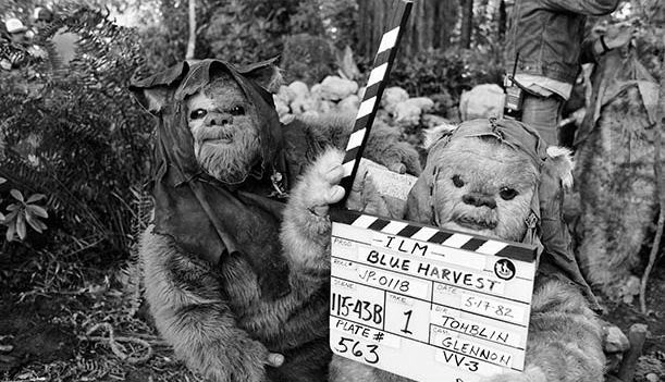 "On the set of ""Blue Harvest"" (aka Return of the Jedi)"