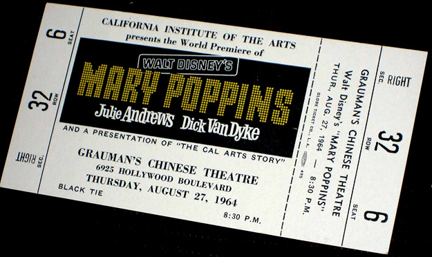 Mary Poppins - Premiere Ticket