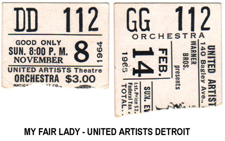 My Fair Lady - ticket stubs