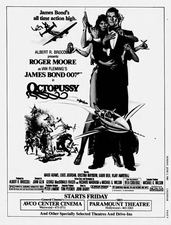 Octopussy newspaper ad
