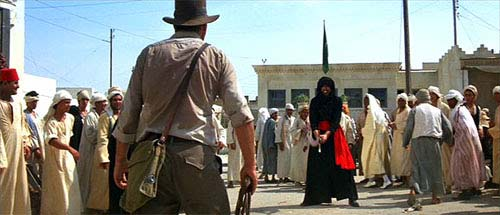 A scene from Raiders of the Lost Ark