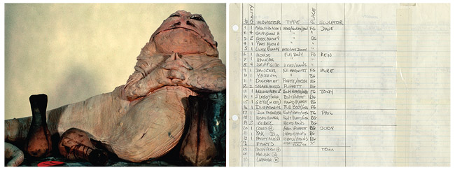 Study model of Jabba the Hutt