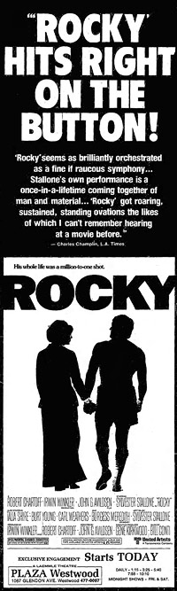 Rocky newspaper ad