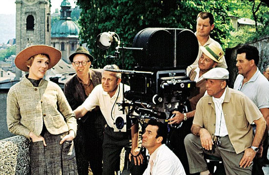 On the set of The Sound of Music