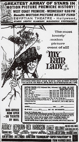 My Fair Lady - Los Angeles newspaper ad