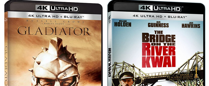 The 4K Ultra HD floodgates may finally be opening: Gladiator, Bridge on the River Kwai & more are on the way