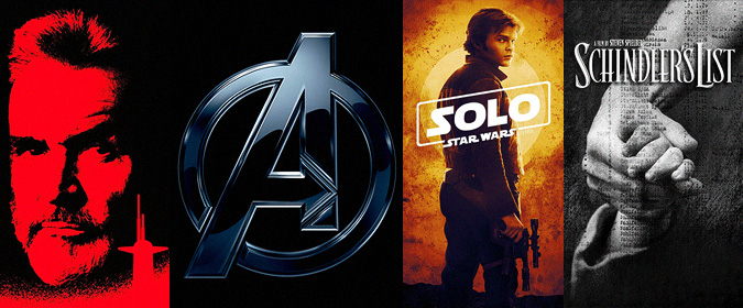 A major 4K UHD update with Avengers: Infinity War, Solo, Schindler's List, the Jack Ryan films & more