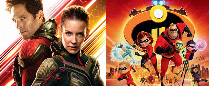 Disney officially sets Marvel's Ant-Man and the Wasp for 10/16, followed by Pixar's The Incredibles 2 on 11/6