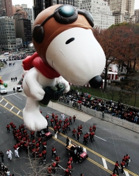 Snoopy at the Macy's Thanksgiving Day Parade